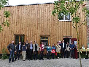 Die neue Selbsthilfewerkstatt in der Lehrter Straße am Tag ihrer Einweihung. Foto: Dagmar Buchholz