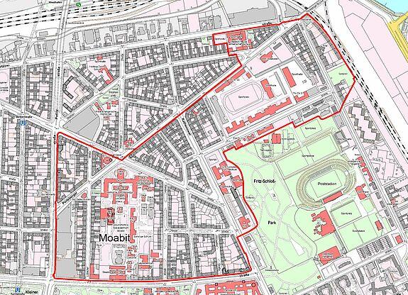 Übersichtskarte Moabit-Ost © Senatsverwaltung für Stadtentwicklung und Wohnen