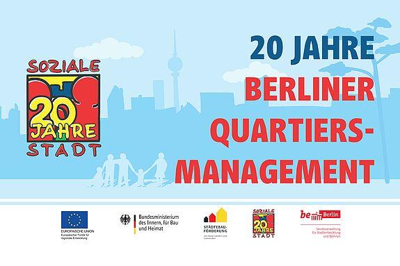 Plakat anlässlich 20 Jahre Programm Soziale Stadt in Berlin. Bild: Mathias Hühn