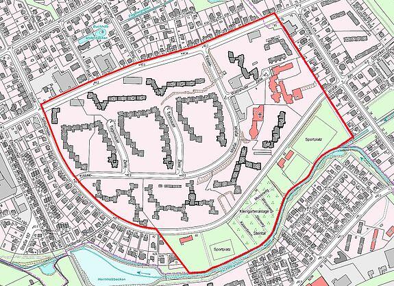 Übersichtskarte Titiseestraße © Senatsverwaltung für Stadtentwicklung und Wohnen