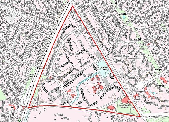 Übersichtskarte Thermometersiedlung © Senatsverwaltung für Stadtentwicklung und Wohnen