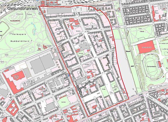 Übersichtskarte Brunnenstrasse © Senatsverwaltung für Stadtentwicklung und Wohnen