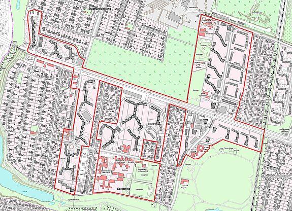 Übersichtskarte Falkenhagener Feld West © Senatsverwaltung für Stadtentwicklung und Wohnen