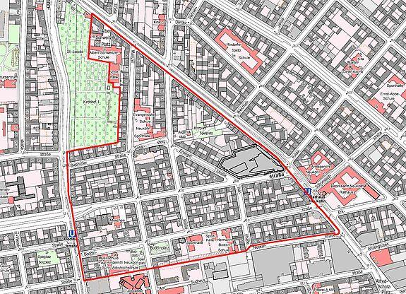 Übersichtskarte Flughafenstrasse © Senatsverwaltung für Stadtentwicklung und Wohnen