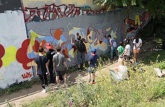Hip-Hop Jam im Gleisdreieckpark. Bild: Die Kulturellen Erben e.V.