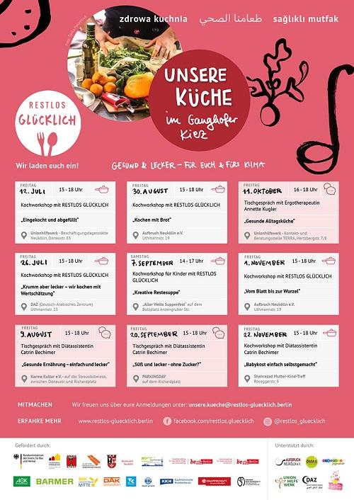 """Das Motto der Workshop-Reihe lautet """"Gesund & lecker - für Euch & fürs Klima"""". Bild: QM Ganghoferstraße"""