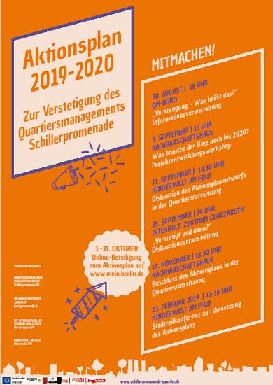 Poster zum Aktionsplan Bild: QM Schillerpromenade