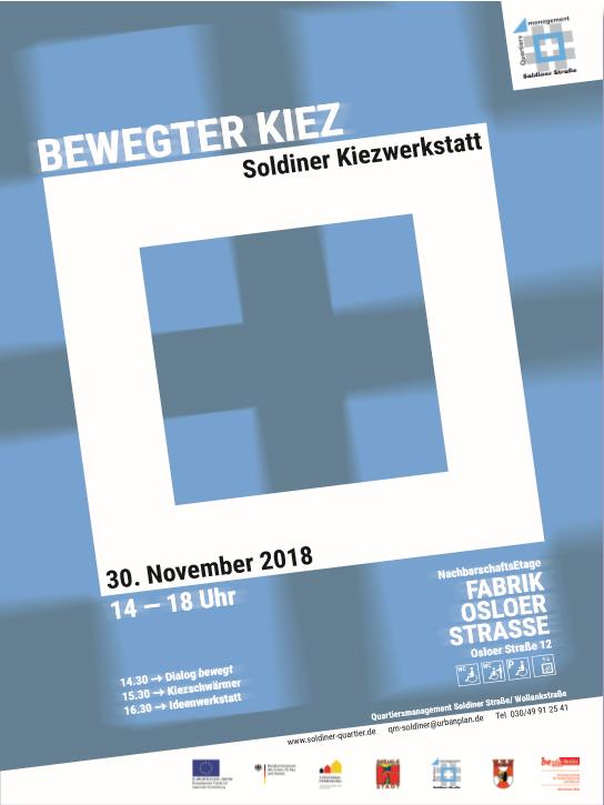 """Das Cover der neuen Broschüre """"Soldiner Kiezwerkstatt"""". Bild: QM Soldiner Straße"""