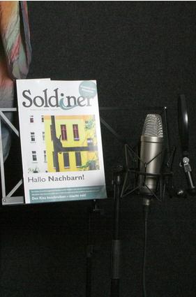 Der Soldiner zum Hören. Bild: A. Schnell