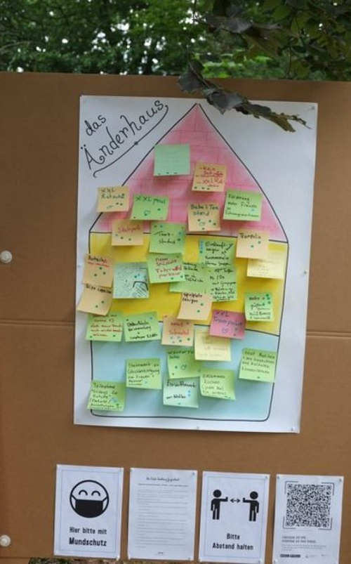 Das Änderhaus zeigt, welche Ideen der Jugendrat bereits gesammelt hat. (Foto: H. Heiland)
