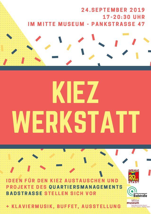 Flyer der Kiezwerkstatt am 24. September 2019. Bild: QM Badstraße