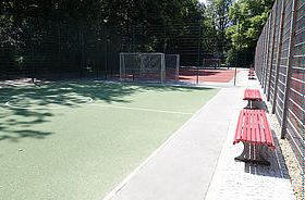 Bolzplatz im Kleistpark. Bild: C. Fritzsche