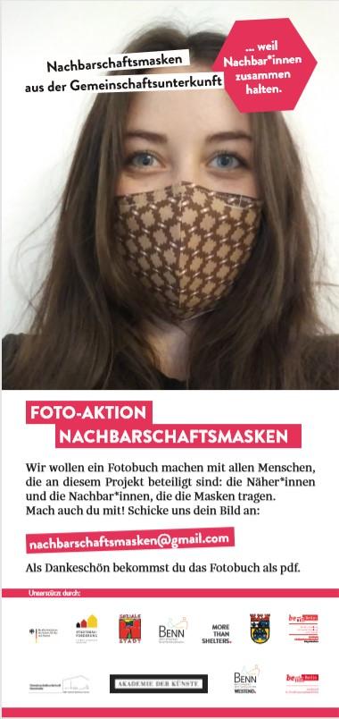 BENN Berlin-West ruft zu einer Foto-Aktion mit den selbst-genähten Masken auf. Bild: BENN Berlin-West
