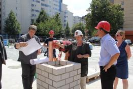Die Grundsteinlegung des Olof-Palme-Zentrums im Jahr 2012. Foto: Dominique Hensel