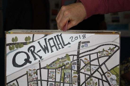 Die Wahlurne des QM Moabit West Foto: Gerald Backhaus /QM Moabit West