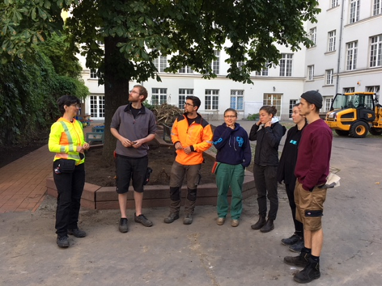 Studierende der Beuth-Hochschule übernahmen die Bauplanung für den neuen Schulhof. Foto: QM Badstraße