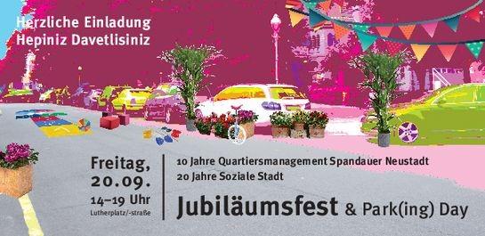Am 20. September 2019 feiert das QM Spandauer Neustadt seinen 10. Geburtstag mit einem Straßenfest. Bild: QM Spandauer Neustadt