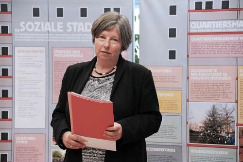 Senatorin Katrin Lompscher bei der Eröffnung des berlinweiten Programms BENN. Bild: SenSW Maren Schütze