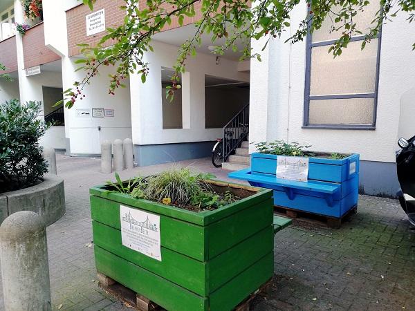 Diese Hochbeete in der Graunstraße suchen neue Paten – oder einen neuen Standort. Foto: Hensel