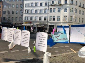 Gabenzaun am Heinrichplatz. Bild: QM ZKO