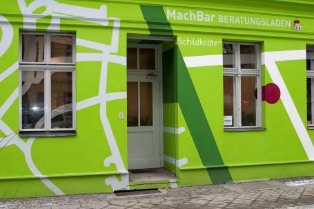 Der Eingang zum Beratungsladen in der Putbusser Straße. Bild: Hensel