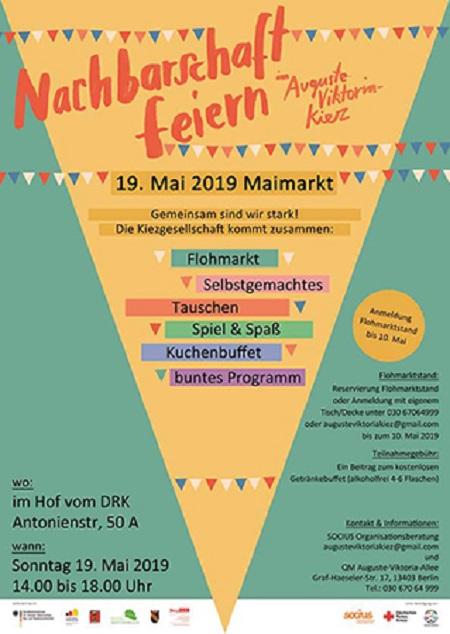 Das Plakat zum Maimarkt. Bild: QM Auguste-Viktoria-Allee