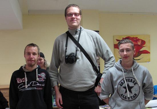 Die drei Organisatoren Steven, Martin und Markus sind zufrieden. Bild: Schuster/QM Kosmosviertel